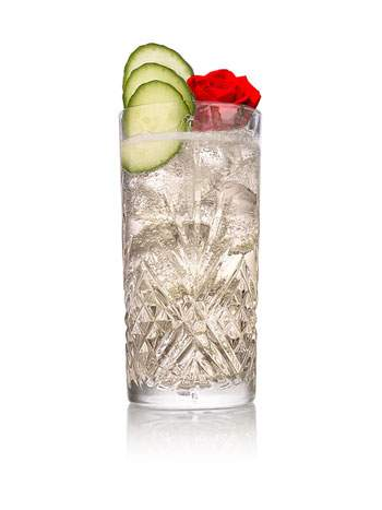 A Rose Story cocktail created with Hendrick's Gin