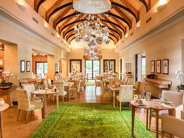The interior at Pierneef a La Motte Restaurant.