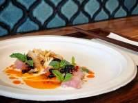 The sashimi line fish at Melting Pot
