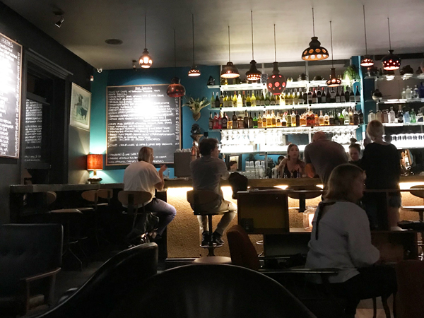 The wine-bar ambience at The Dark Horse