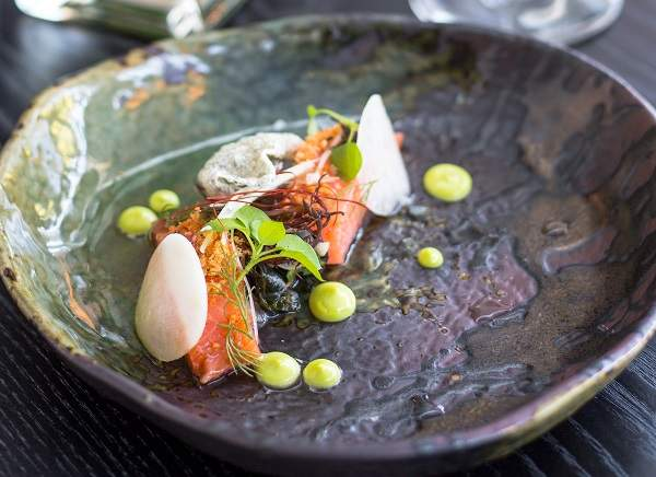The pink ocean trout on the Greenhouse lunch menu