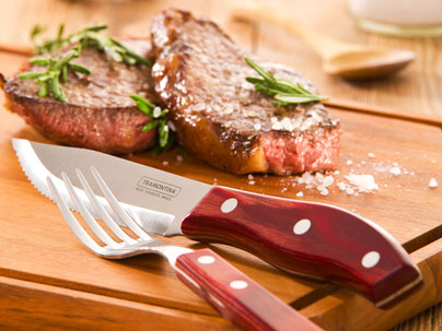 Steak and Tramontina steak knives