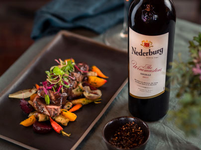 Springbok loin prepared and served at