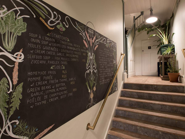 The chalkboard at The Moveable Feast