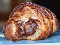 chocolate croissant prepared and served at Jason Bakery