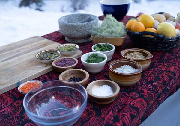 Some of the ingredients Gordon uses in Alaska