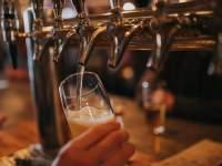 Beer draught at a pub