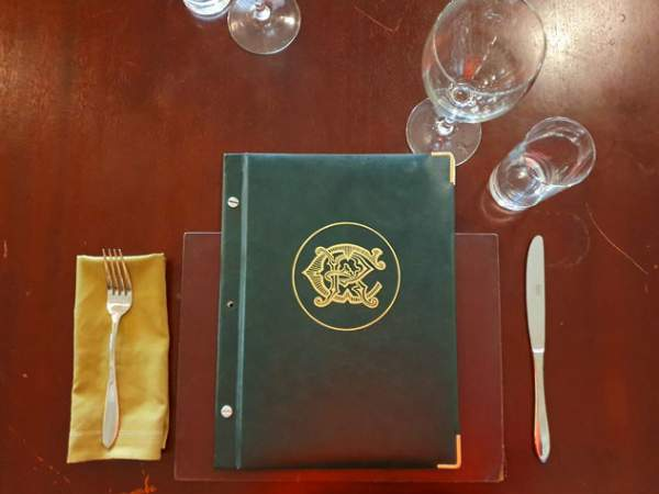 The Rand Club Restaurant menu