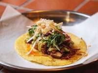 Taco Carnitas at The Melting Pot Cafeteria