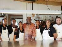wolfgat restaurant team with south african president