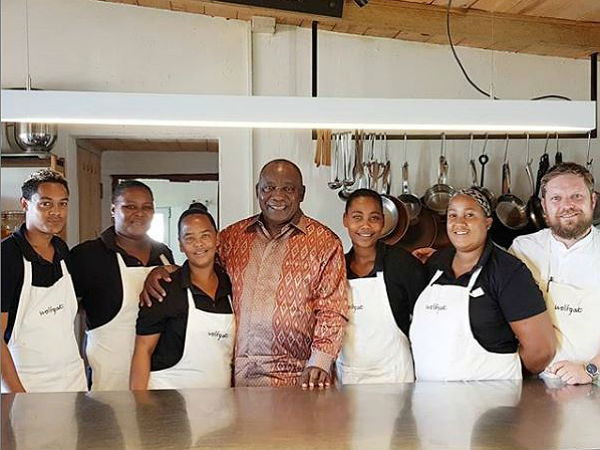 Spotted: President Ramaphosa dines at award-winning Paternoster restaurant