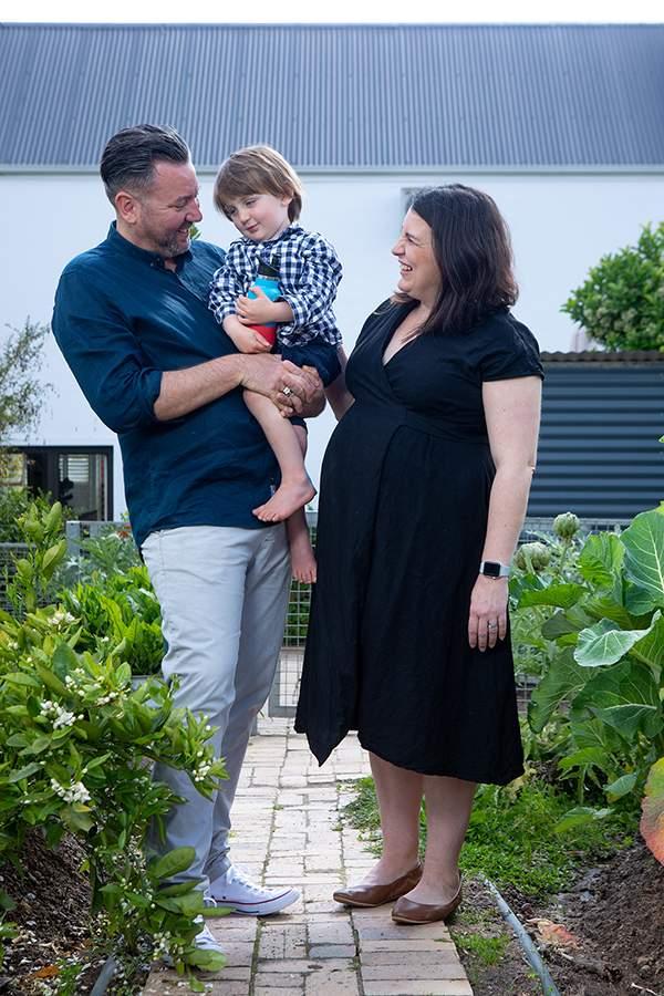 Bertus Basson and his family
